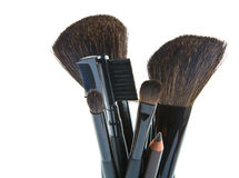 Make-up brushes Stock Images