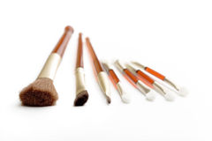 Make-up brushes and applicator Royalty Free Stock Images