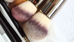 Make-up brushes - beauty treatment Royalty Free Stock Photo