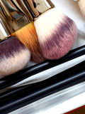 Make-up brushes - beauty treatment Royalty Free Stock Image