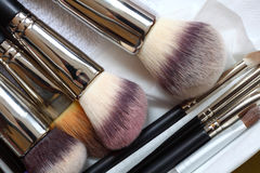 Make-up brushes - beauty treatment Royalty Free Stock Photography