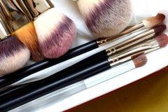 Make-up brushes - beauty treatment Stock Photo