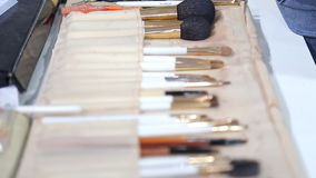 Make-up Brushes stock video