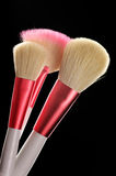 Make-up brushes close-up Royalty Free Stock Photography