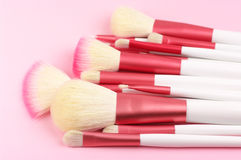 Make-up brushes close-up Royalty Free Stock Image