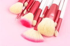 Make-up brushes close-up Stock Photo