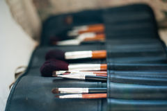 make-up brushes in holder Stock Photography