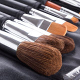 Make-up Brushes In Case Royalty Free Stock Image