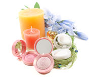 Make Up and Candles Stock Photography