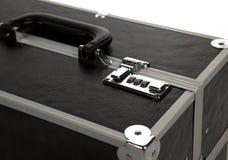 Make Up Case. Lock On A Suitcase Up Close on White Isolated Background Stock Image