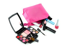 Make up case with box Royalty Free Stock Images