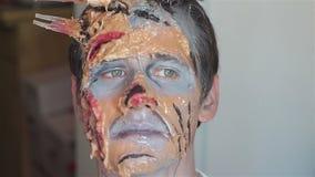 Make up che fa lo zombie del mostro archivi video