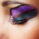 Make up close up Stock Photography