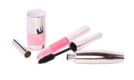 Make-up colection. White background. fashion Stock Photo