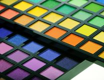 Make-up collection close up Royalty Free Stock Photos