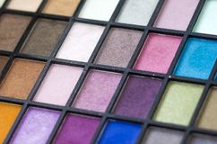 Make up color pallet with nice details over the various colors stock photo