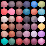 Make-up colorful eyeshadow palettes Royalty Free Stock Photography