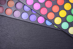 Make-up colorful eyeshadow palettes Stock Images