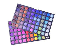 Make-up colorful eyeshadow palettes Royalty Free Stock Photos