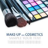 Make-up colorful eyeshadow palettes Stock Photography