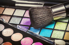 Make-up colorful eyeshadow palettes Royalty Free Stock Images