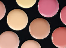 Make up colors palette, lipstick collection Stock Image