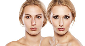 Before and after make up Royalty Free Stock Image