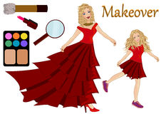 Make up before after concept Stock Photos