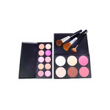 Make-up corrector and eyeshadows palettes Stock Photo