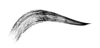 Make-up cosmetic mascara brush stroke on white. Vector.  Stock Image