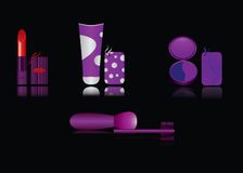 Make-up cosmetics. Professional cosmetic kit for make-up model stock illustration