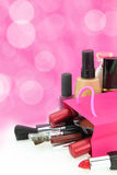 Make up Cosmetics. Cosmetics come out from a shopping bag Stock Photography