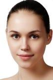 Make-up & cosmetics. Closeup portrait of beautiful woman model f Stock Photography