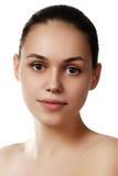Make-up & cosmetics. Closeup portrait of beautiful woman model f Stock Photo