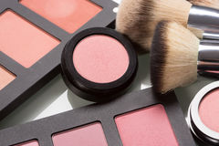 Make-up cosmetics. compact powder, mineral Stock Images