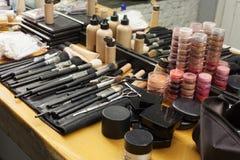 Make-up cosmetics. In dressing room vector illustration