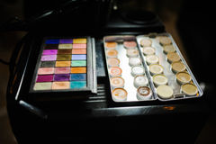 Make-up and cosmetics products at beauty salon Stock Photography