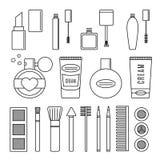 Make up and cosmetics  set. Background fashion Royalty Free Stock Photography