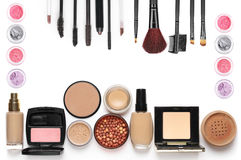 Make-up cosmetics set Royalty Free Stock Photography