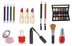 Make up and cosmetics vector illustration Stock Photography