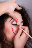 Make-up creation procedure Stock Photography