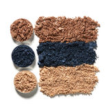 Make up crushed eyeshadow Stock Image