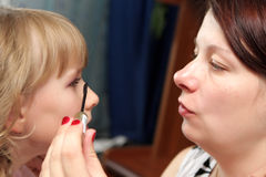 Make-up for daughter Stock Photo