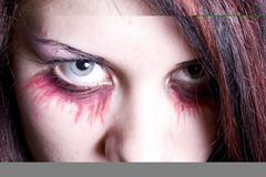Make-up des Vampirs lizenzfreie stockbilder