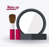 Make up desing, vector ilustration Stock Photography