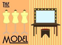 Make Up and dressing room vector illustration royalty free illustration