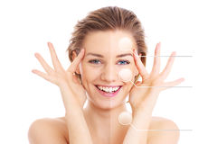 Make-up effects Royalty Free Stock Photo