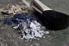 Make-up en borstel royalty-vrije stock foto