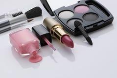 Make-up en borstels Stock Afbeelding