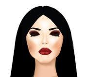 Make-up en haar Royalty-vrije Stock Afbeeldingen